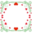Frame with hearts vector
