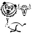 Characters hare bull bear vector