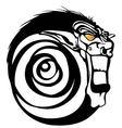 Tribal devil monkey vector