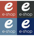 E shop design template vector