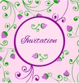 Retro style invitation card with hand draw grapes vector
