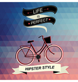 Summer poster with bicycle vector
