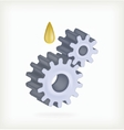 Gear and oil vector