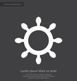 Ship wheel premium icon white on dark background vector
