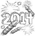 Doodle pop fireworks vector