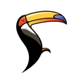Cute colourful cartoon toucan vector