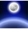 Full moon in the night sky vector