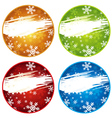 Color christmas labels with snowflakes vector