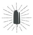 Simple vintage retro classic ice cream icon vector