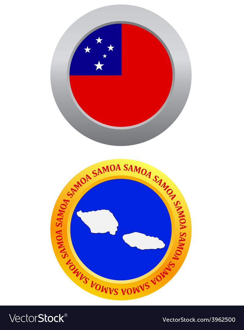 Button as a symbol samoa vector | Price: 1 Credit (USD $1)
