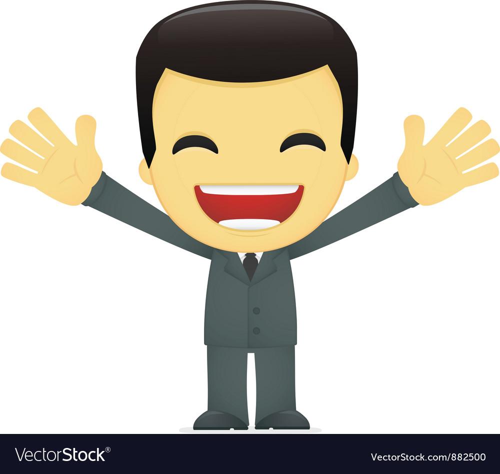 Funny cartoon asian businessman vector | Price: 1 Credit (USD $1)