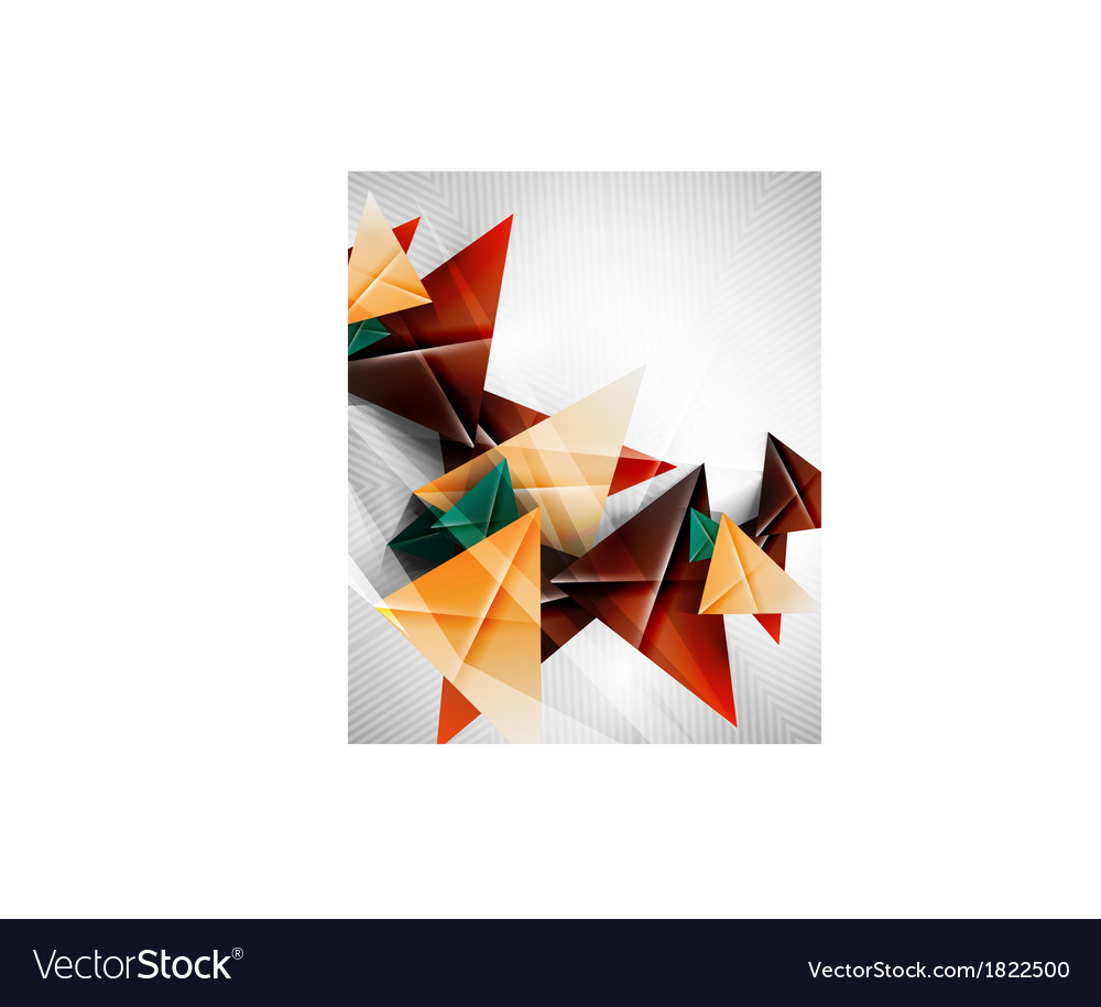 Geometric shape abstract triangle background vector | Price: 1 Credit (USD $1)