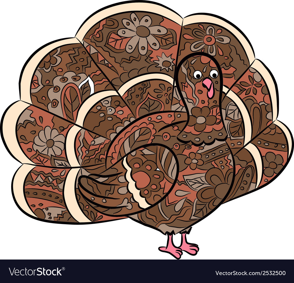 Hand drawing turkey vector | Price: 1 Credit (USD $1)