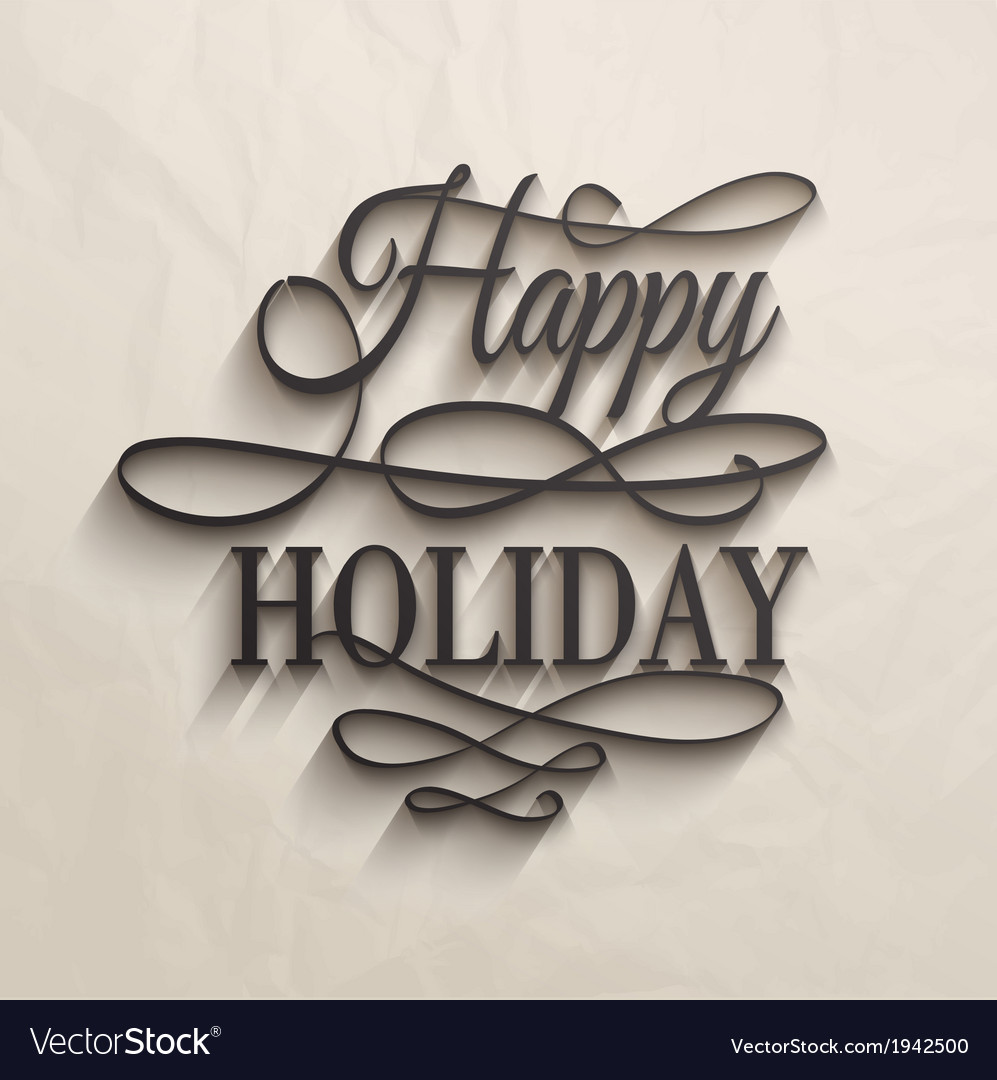 Happy holiday - postcard decoration background vector | Price: 1 Credit (USD $1)