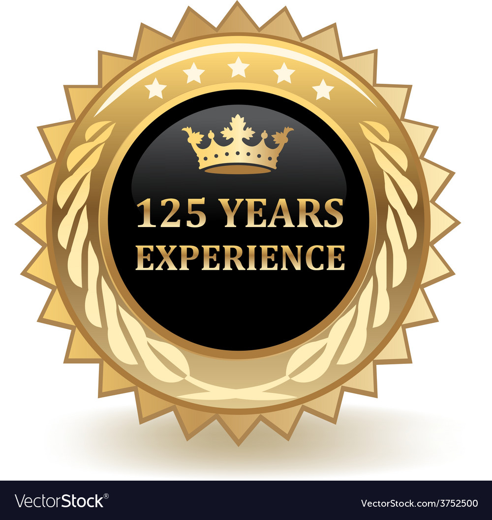Hundred and twenty five years experience badge vector | Price: 1 Credit (USD $1)