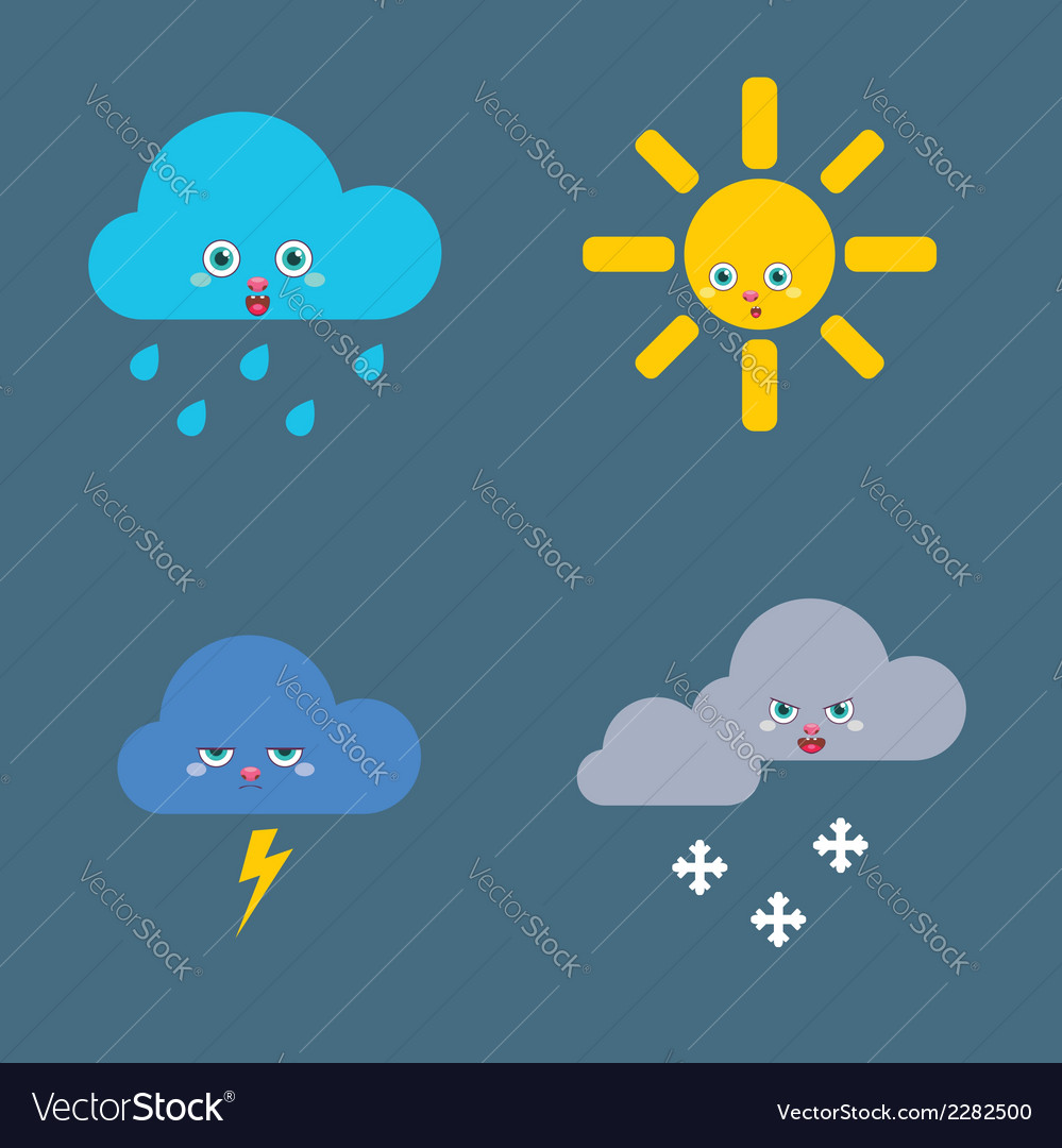 Icons set weather vector | Price: 1 Credit (USD $1)