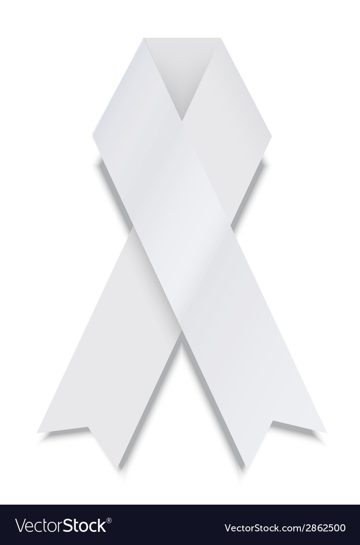 Modern white ribbon on white background vector | Price: 1 Credit (USD $1)