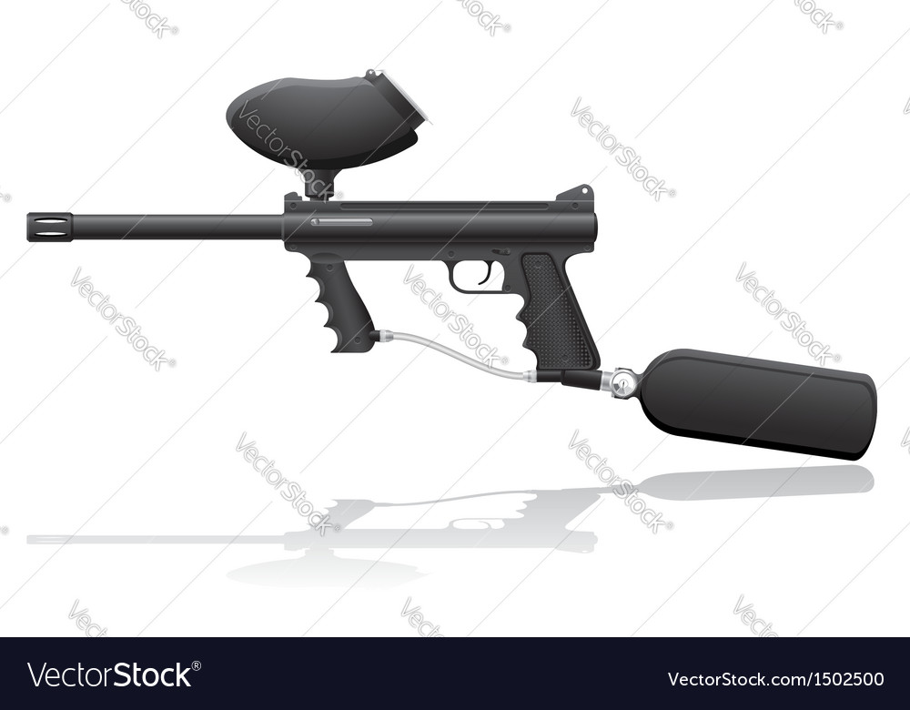 Paintball marker 02 vector | Price: 1 Credit (USD $1)