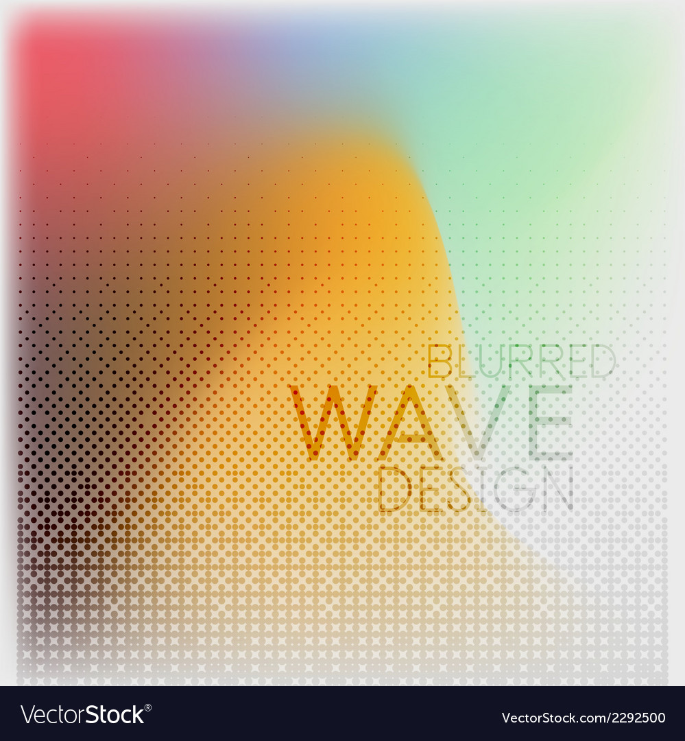 Textured blurred color wave background vector | Price: 1 Credit (USD $1)