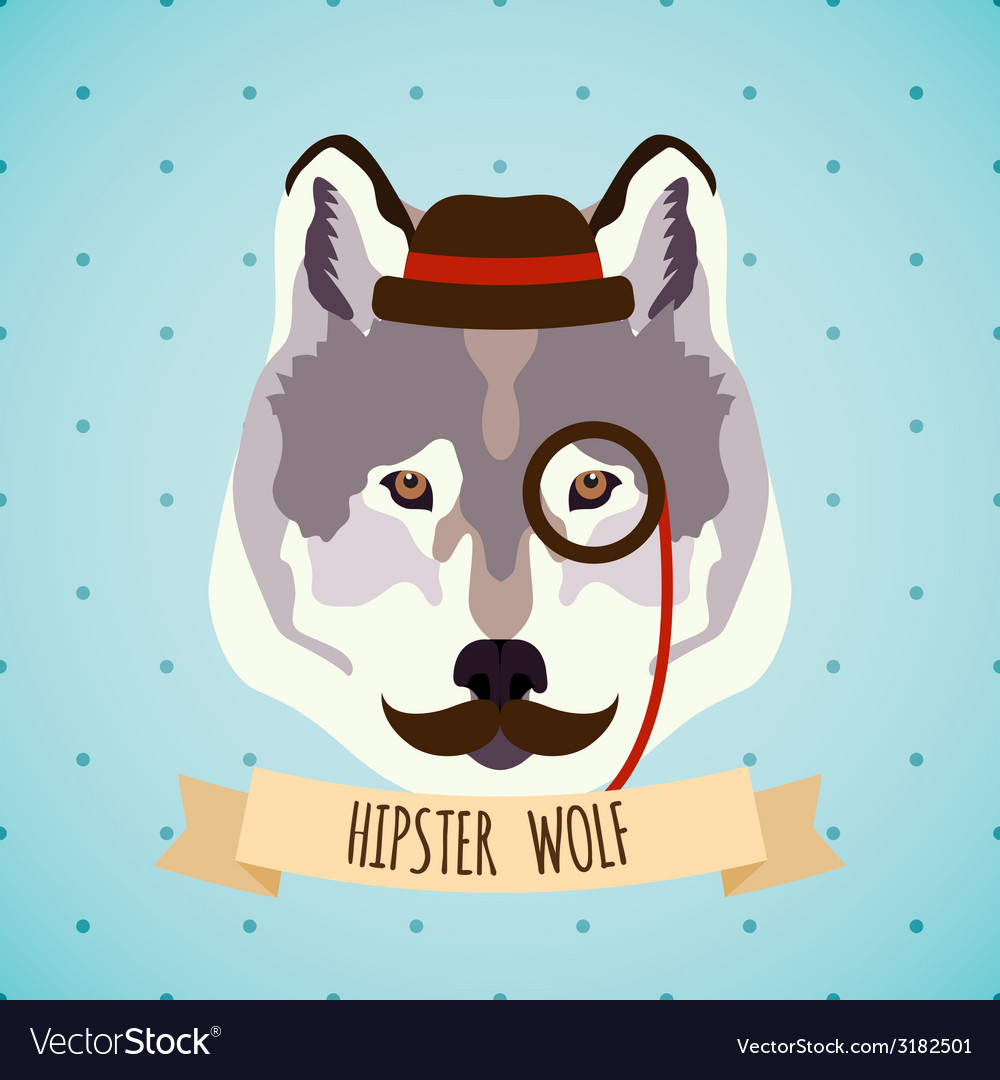 Animal hipster portrait vector | Price: 1 Credit (USD $1)