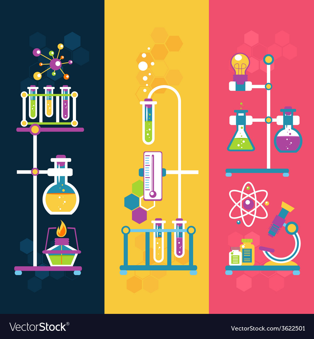 Chemistry design banners vector | Price: 1 Credit (USD $1)