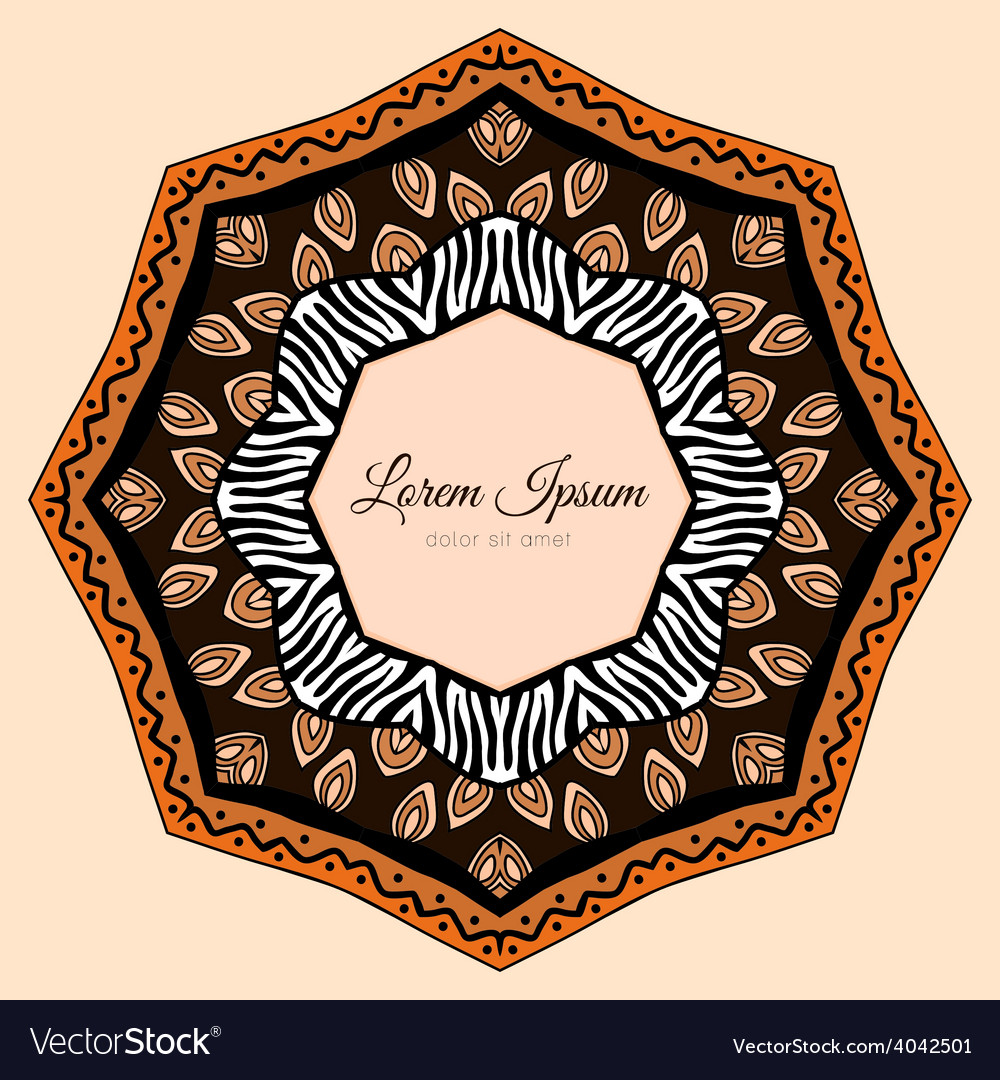 Doodles ethnic design element vector | Price: 1 Credit (USD $1)