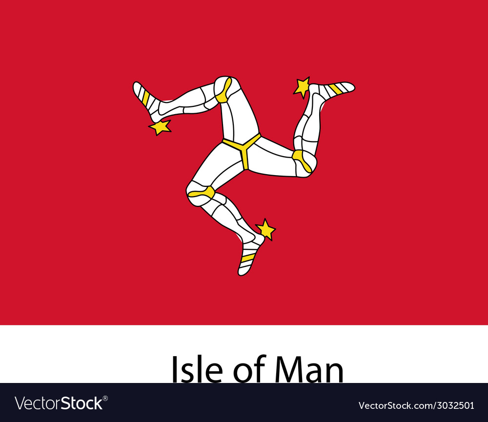 Flag the country isle of man vector | Price: 1 Credit (USD $1)