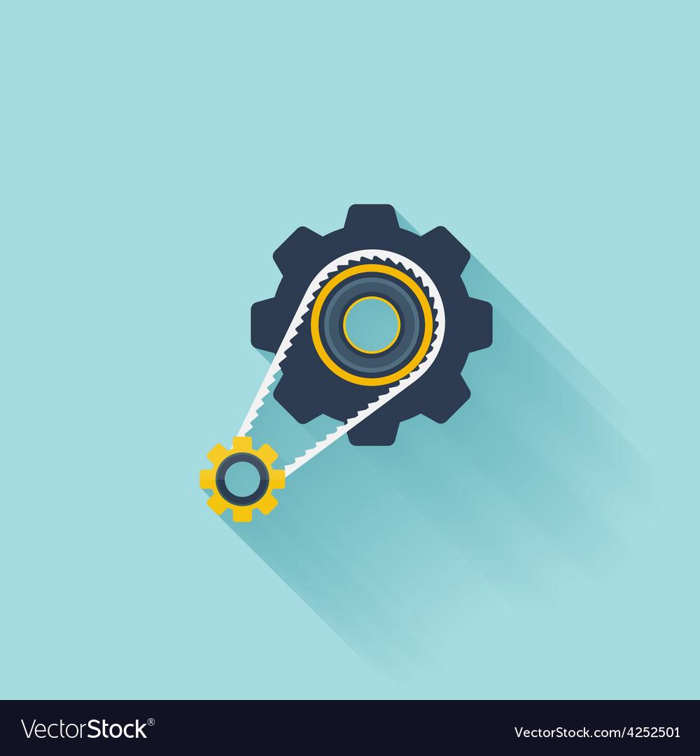 Flat repair icon settings symbol vector | Price: 1 Credit (USD $1)