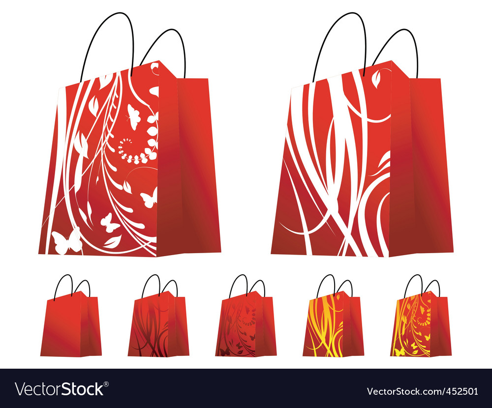 Floral shopping bags vector   Price: 1 Credit (USD $1)