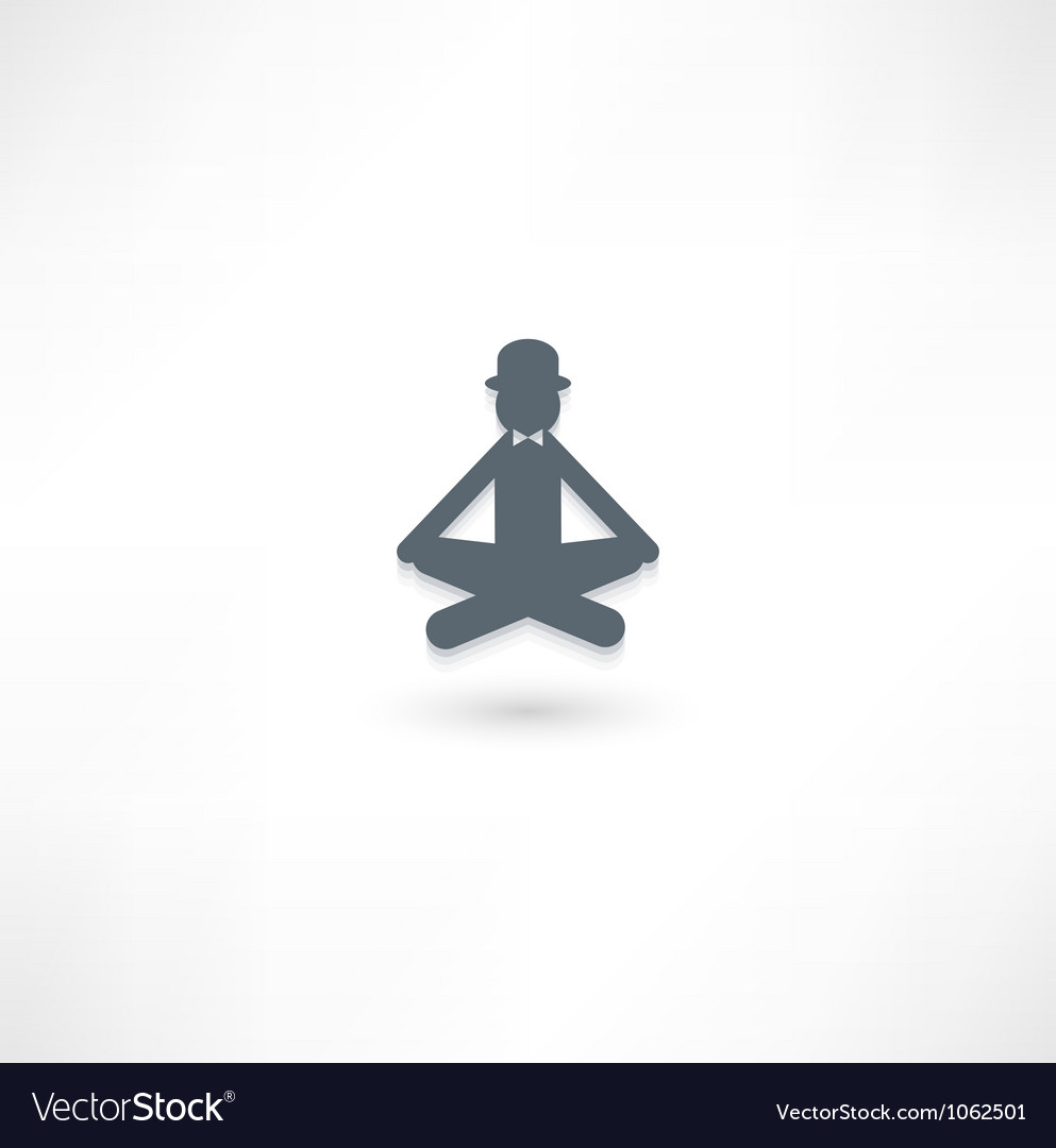 The gentleman in the lotus position vector | Price: 1 Credit (USD $1)