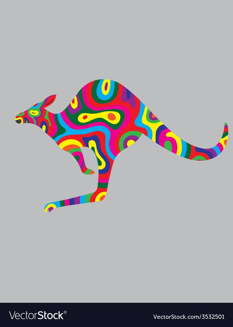 Kangaroo abstract colour vector | Price: 1 Credit (USD $1)