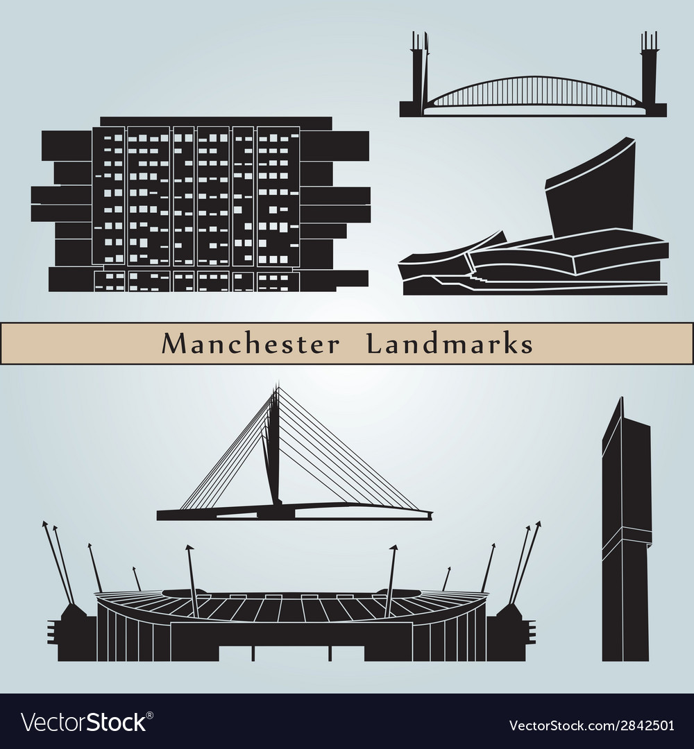Manchester landmarks and monuments vector | Price: 1 Credit (USD $1)