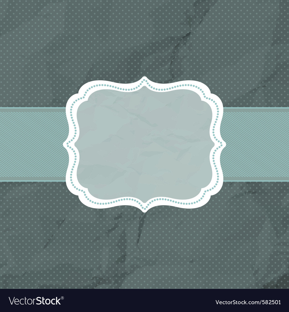 Vintage polka dot card vector | Price: 1 Credit (USD $1)