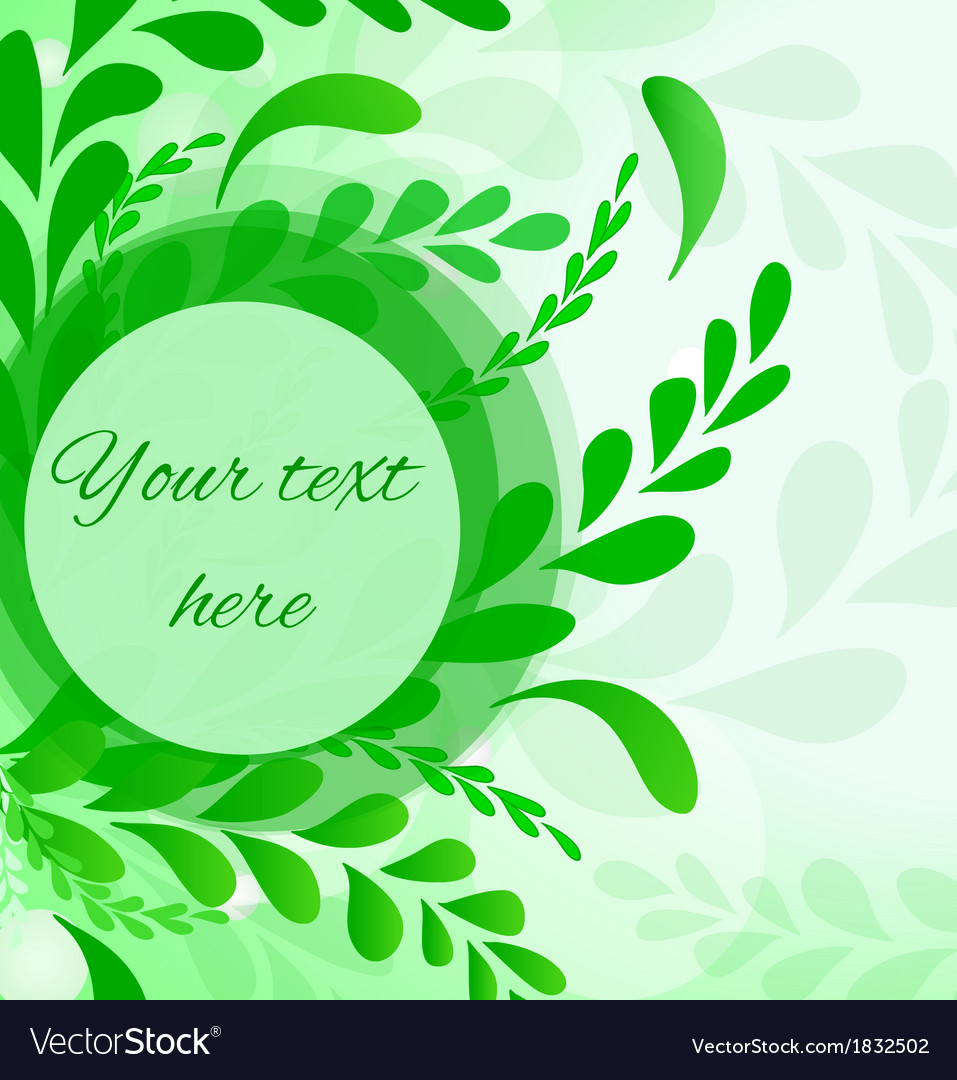 Abstract leafs background invitation card in green vector | Price: 1 Credit (USD $1)