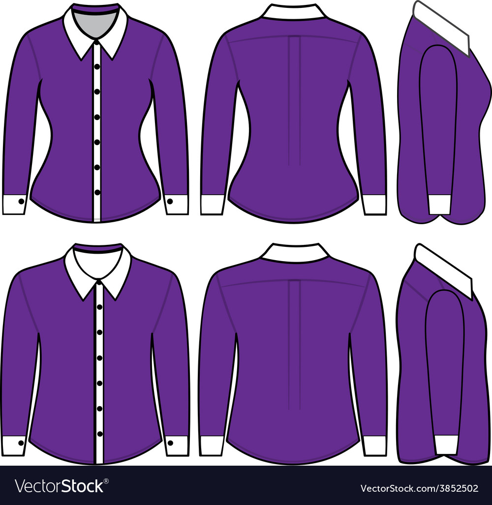 Blank shirt with long sleeves template for man and vector | Price: 1 Credit (USD $1)