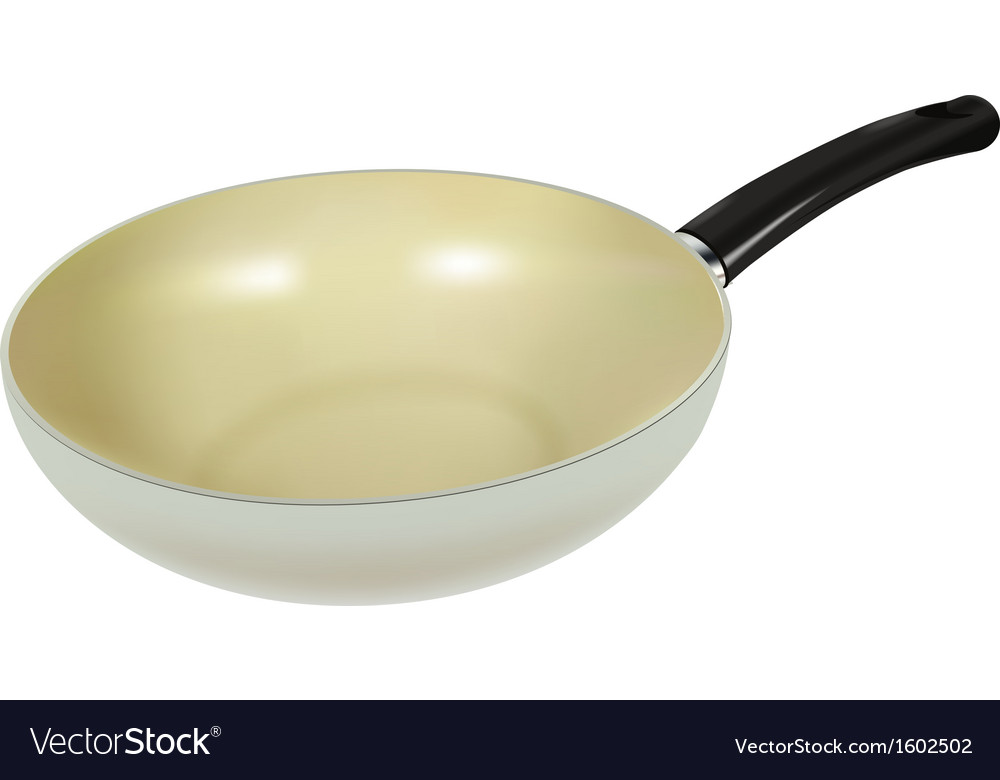 Ceramic pan vector | Price: 1 Credit (USD $1)