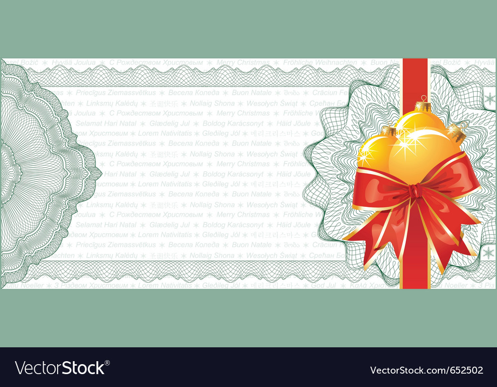 Christmas gift certificate vector | Price: 1 Credit (USD $1)