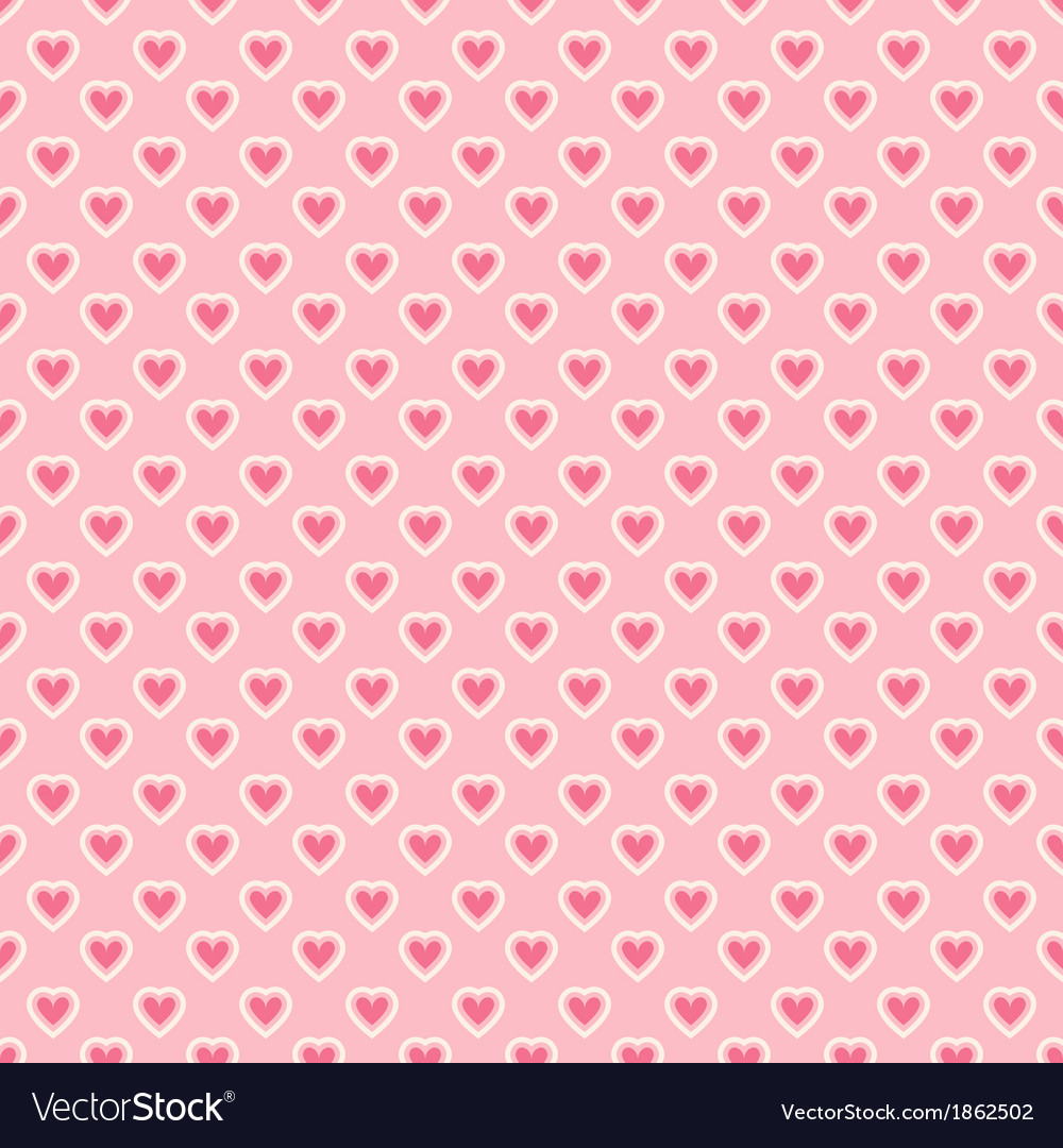 Heart shape seamless pattern tiling vector | Price: 1 Credit (USD $1)