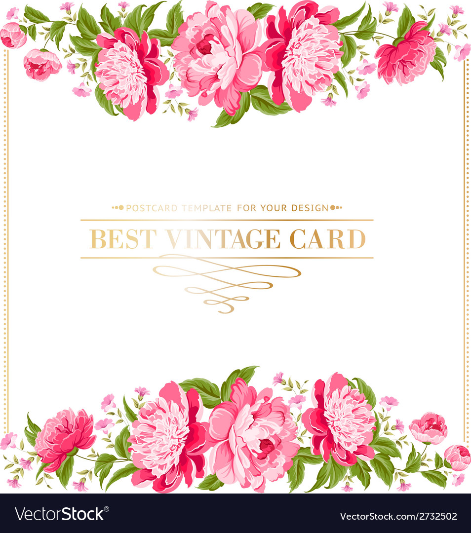 Luxurious vintage frame vector | Price: 1 Credit (USD $1)