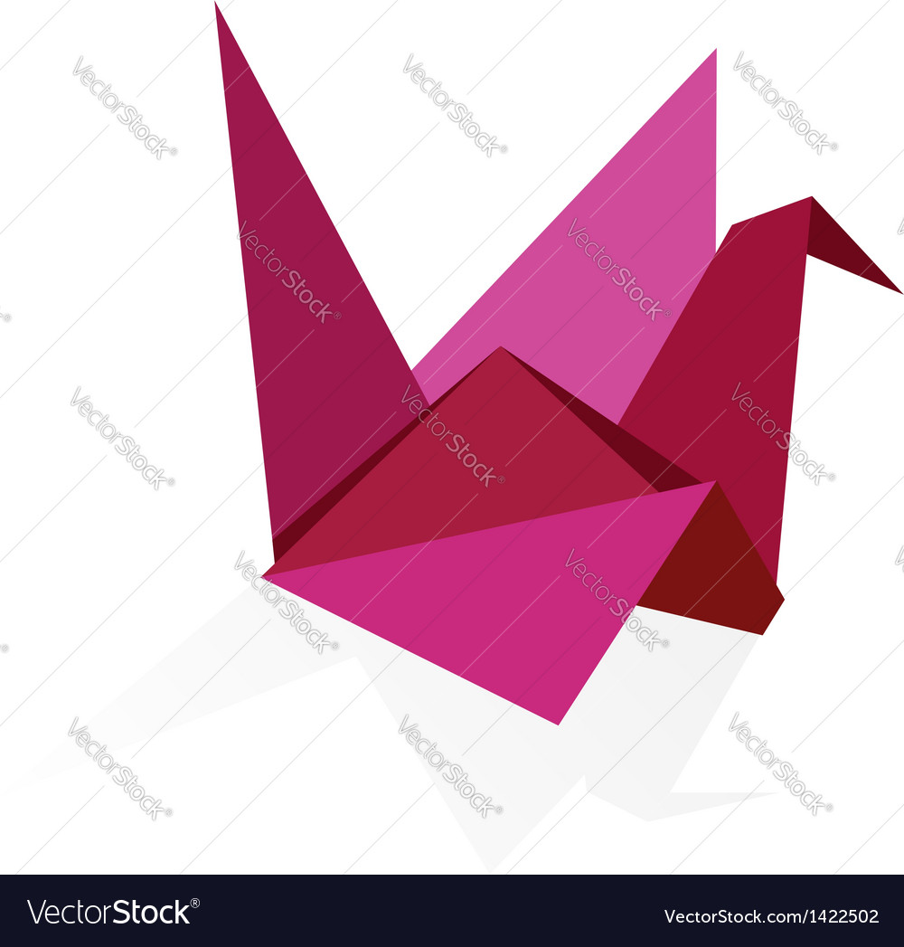 Origami swan vector | Price: 1 Credit (USD $1)