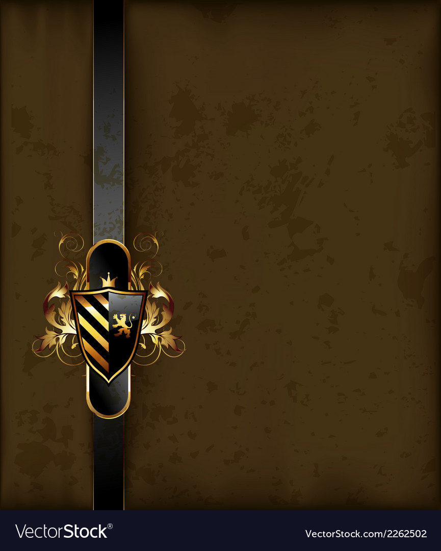 Ornate frame with shield vector | Price: 1 Credit (USD $1)