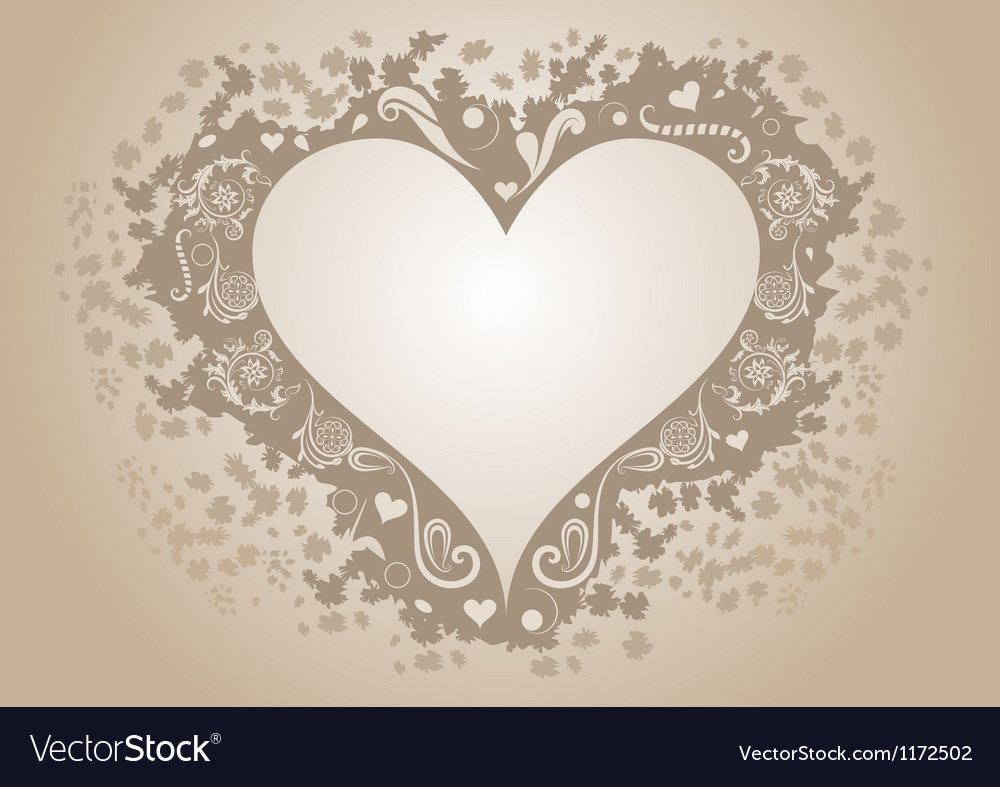 Vintage heart shaped frame with copy space vector | Price: 1 Credit (USD $1)