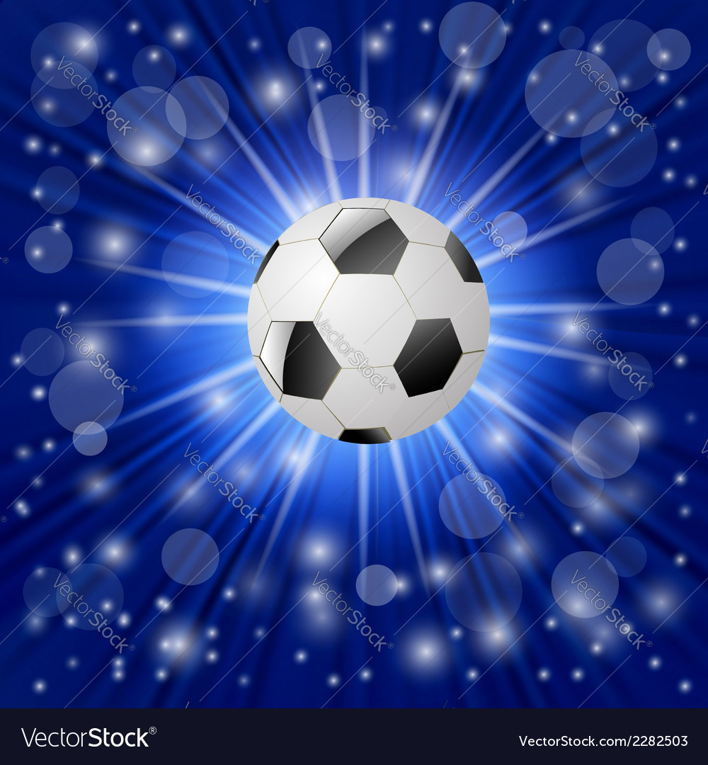 Ball on a blue background vector | Price: 1 Credit (USD $1)