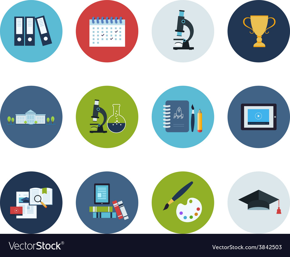 Education and science icons vector   Price: 1 Credit (USD $1)