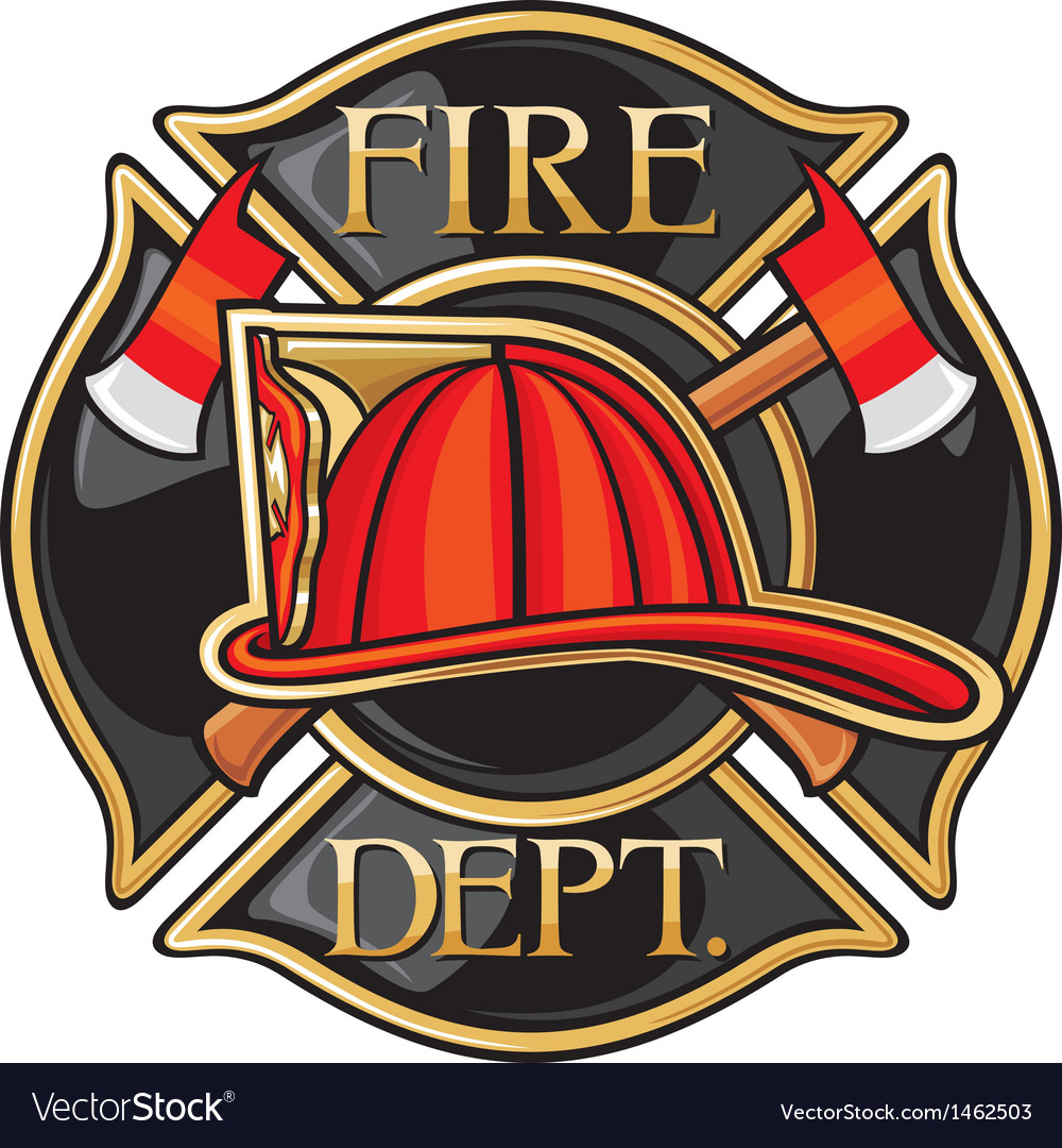 Fire department or firefighters maltese cross symb vector | Price: 1 Credit (USD $1)