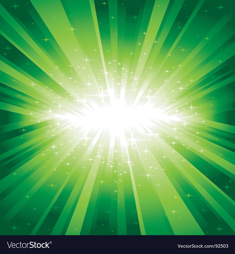 Green light burst with stars vector | Price: 1 Credit (USD $1)