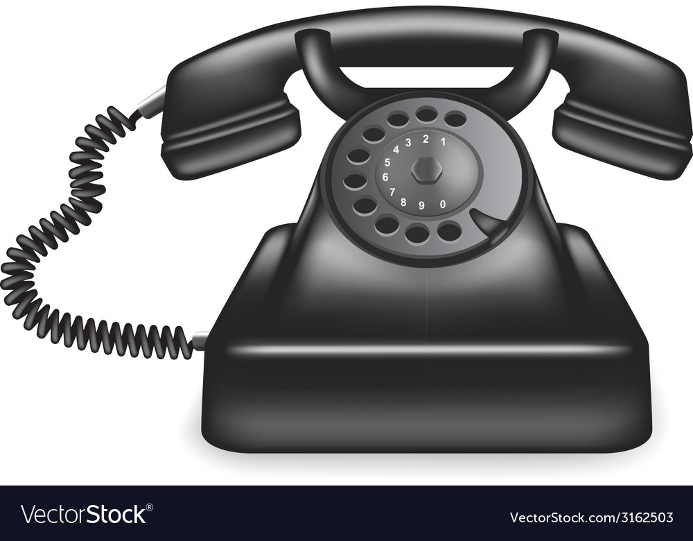 Old phone vector | Price: 1 Credit (USD $1)
