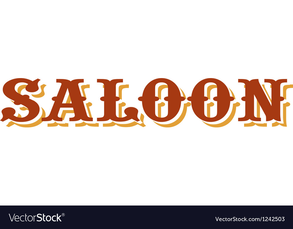 Saloon title vector | Price: 1 Credit (USD $1)