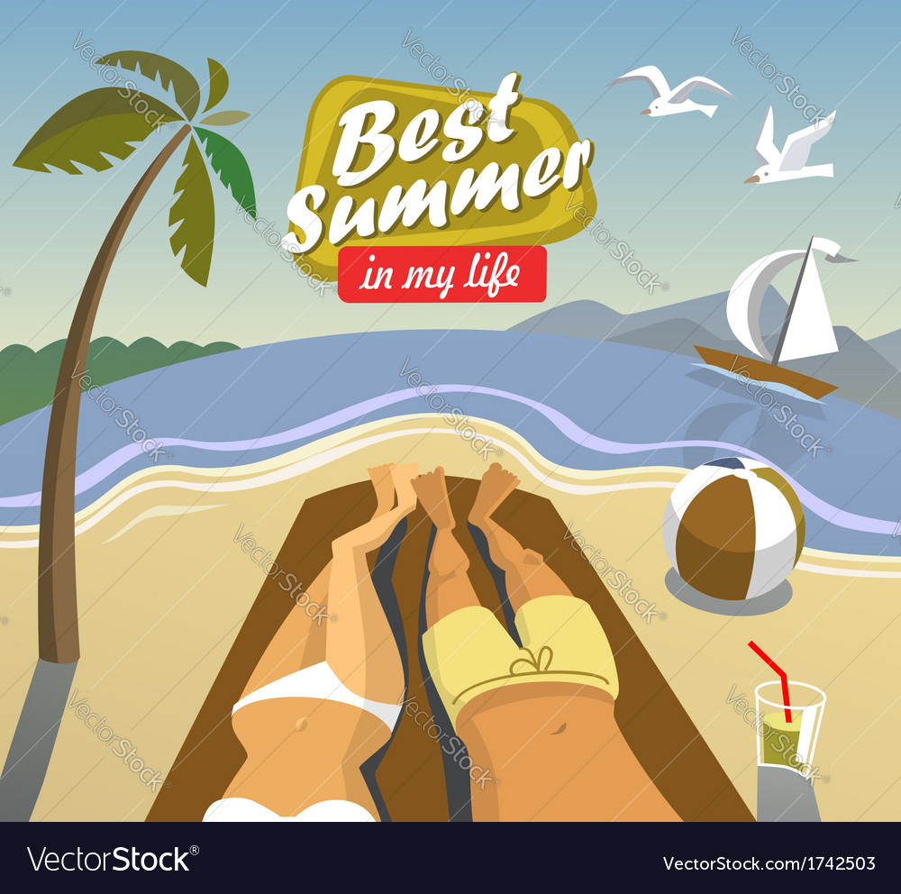 Summer vacation vector | Price: 1 Credit (USD $1)