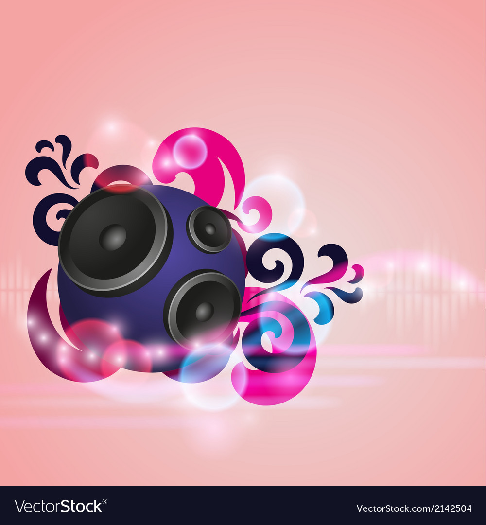 Abstract music background with round speaker vector | Price: 1 Credit (USD $1)